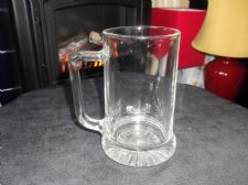 COLLECTABLE LAGER BEER GLASS TANKARD THICK HEAVY STAR BASE ITALY